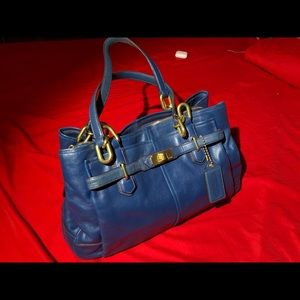COACH Leather Handbag Purse Authentic